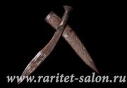 Кукри(нож,  кинжал) в деревянных ножнах. Непал. Начало ХХ в.