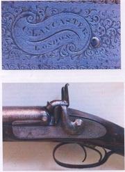 Ружье,  1856 года,  пр-во Лондон,  двухствольное с капсюльными замками